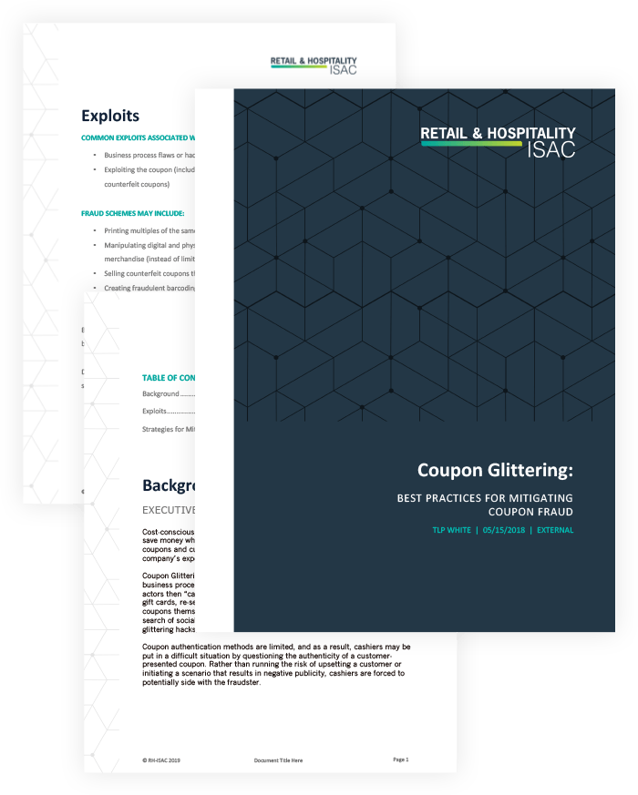 threat intelligence report: coupon glittering