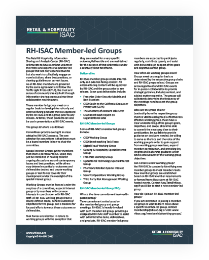 RH-ISAC Member-led Groups Image