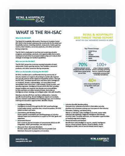 RH-ISAC Overview – What is the RH-ISAC