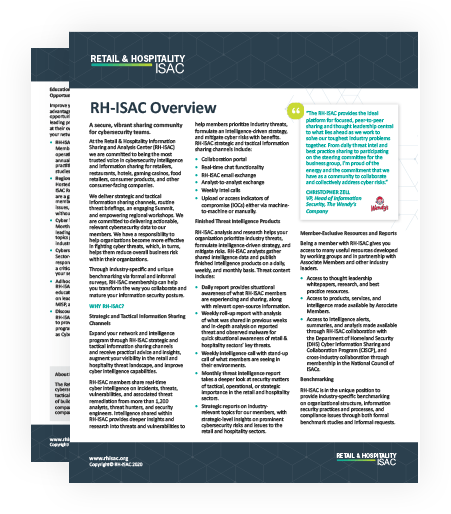 RH-ISAC Overview